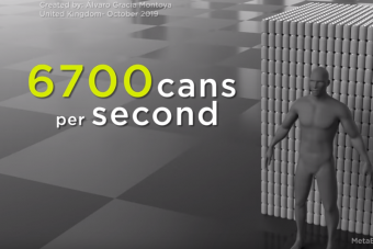 Ez a videó megmutatja, mennyi üdítősdobozt használunk évente