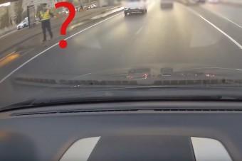 Borzasztóan érdekes baleset történt az Árpád hídon, videofelvétel is van róla