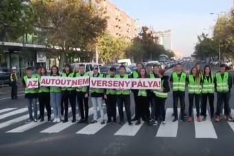 Példátlan közlekedésbiztonsági akciót tartottak Budapesten