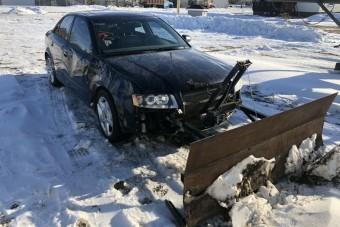 Az Audiból épített hókotró a havas utak egyik legjobb fegyvere