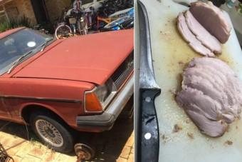 Ausztráliában olyan meleg van, hogy az autóban lehet húst sütni