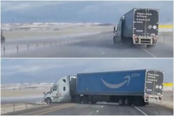 Kamiont fordított keresztbe a szélvihar