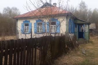 Ilyen egy öreg viskó belülről Csernobil mellett