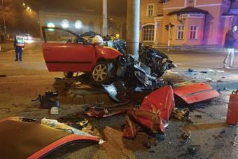 Megrázó videón a Váci úton történt komoly baleset
