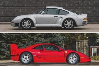 Egymillió dolláros kérdés: Porsche 959 vagy Ferrari F40?