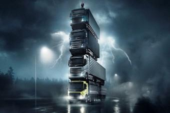 Gigantikus tornyot építettek teherautókból