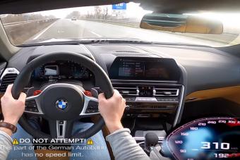 Ennyi kell a BMW M8-asnak a 310 km/órás sebességhez
