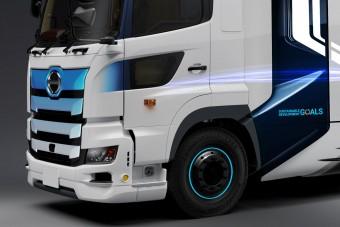 Vízpárát pufog ki ez a japán teherautó