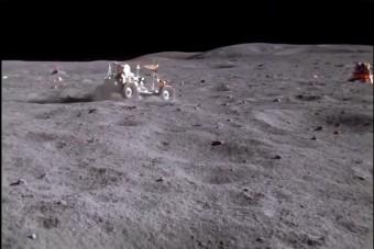 Felújított felvételeken látható az első Hold-rali