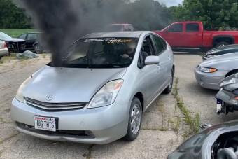 A gumiégető dízel Prius látványára nem lehet eléggé felkészülni