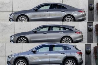 Három új Mercedes kap plug-in hibrid hajtást