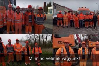 Veletek vagyunk! - szívmelengető üzenetet küldött a Magyar Közút