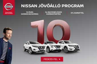 10 éves garanciacsomag jár az új a Nissan crossoverekhez (x)