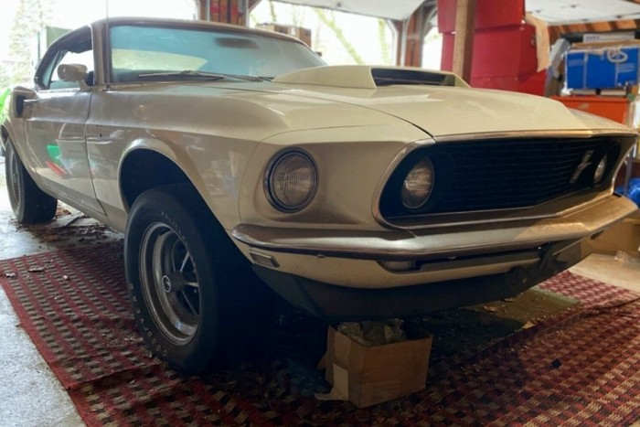 This rare Ford Mustang 1 has been in the garage for 40 years
