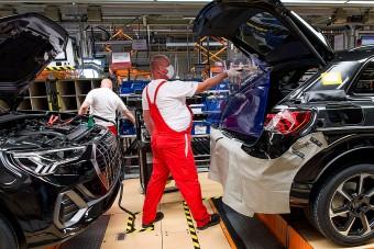 Az autógyártás is újraindult a győri Audinál