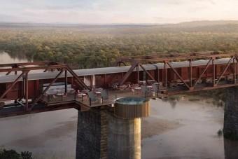 Vonathotelből nyílik csodás kilátás az afrikai nagyvadakra