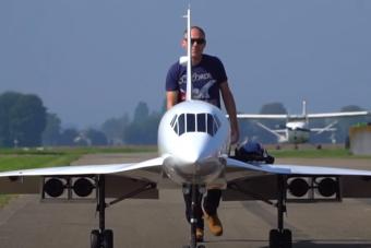 Ilyen, amikor egy hobbi eldurvul: Concorde repülőmodell gázturbinákkal