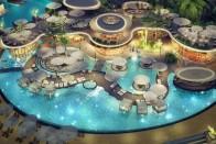 A sivatag közepére építettek tavat Dubajban 1