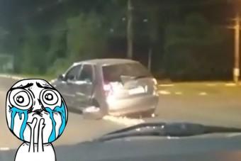 Ezek az autósok nem ismerik azt a szót, hogy állj!