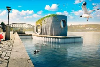 Két nap alatt felépíthető a vízen lebegő ökoház