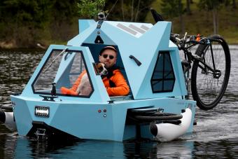 A tudatos vidékjárás tökéletes eszköze: bringa, csónak és apró kuckó egyben