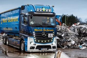 60 tonnás Actros járja az utakat Skandináviában