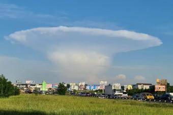 Ijesztő felhő jelent meg Csernobil felett az égen