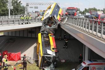 Drogosan okozott balesetet a buszsofőr Varsóban