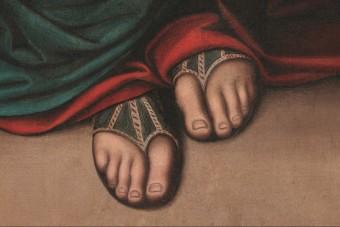 Ilyen közelről még nem láttad Jézus lábujját
