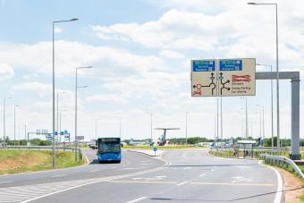 Új körforgalmat adtak át a ferihegyi reptérnél