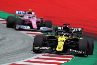F1: Ricciardo pipa a leszorítás miatt