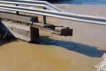 Így mosott el az áradás egy hidat Somogyban