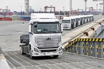 Újabb európai országban jelenhetnek meg a Hyundai üzemanyagcellás teherautói
