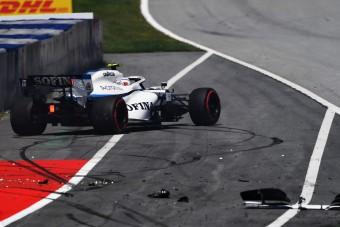 F1: Autót tört az újonc az időmérő előtt