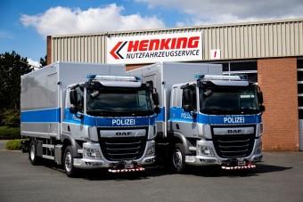 Különleges teherautókat vásárolt a rendőrség