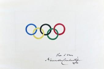 Egy vagyont fizettek az olimpiai ötkarika első rajzáért