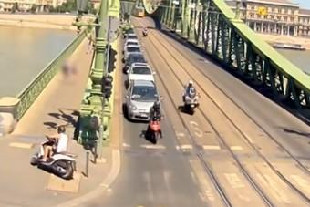 Eszméletlen motoros üldözés volt Budapesten, a rendőrség videót is kiadott róla