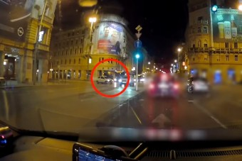 Necces jelenetet vettek videóra a Blahán – csoda, hogy nem történt baleset!