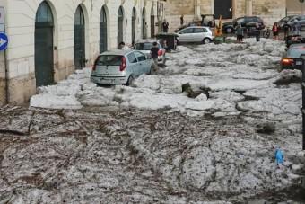 Olyan jégvihar pusztított Veronában, amilyet még nem láttunk