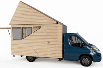 Ez már több mint lakókocsi, ez egy hordozható faház