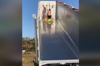 Így csinálnak élményfürdőt otthon a kamionosok