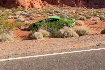 Elhagyott Lamborghinit találtak a nevadai sivatagban