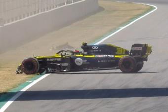 F1: Nagy baleset, piros zászló a szabadedzésen