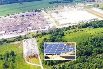 Négy és fél hektáron termel áramot az autógyártó