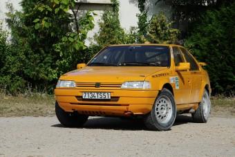 A terepralira készített Peugeot 405-ös nem jutott el az éles bevetésig