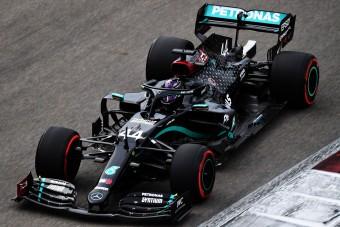 F1: Vettel felborította az időmérőt, de így is Hamiltoné az orosz pole