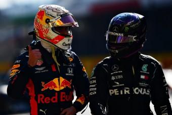 F1: Verstappen is kiállt Hamilton mellett