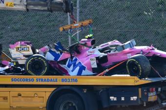 F1: Nagy bajba került a Racing Point Stroll balesete miatt