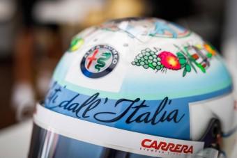 F1: Lenyűgöző sisakot villantott az olasz pilóta