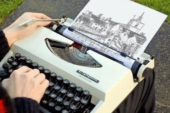 Csodás képeket rajzol ez az írógép